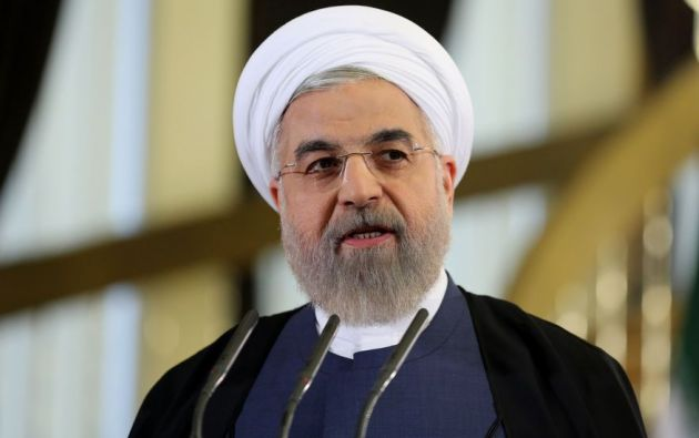 El presidente iraní y candidato a la reelección, el moderado Hasan Rohaní, se alzó hoy con la victoria en las presidenciales celebradas el viernes en Irán. Foto: AFP