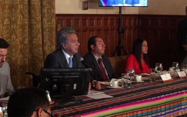 En el conversatorio del lunes, Moreno indicó que buscarán nuevas formas de financiamiento. Foto: TW de Finanzas