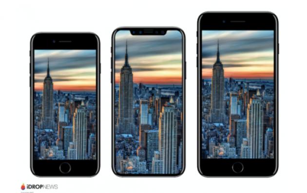 El portal iDrop News hizo una comparación entre el iPhone 8 y versiones anteriores, mostrando que el nuevo móvil sí sería más grande. Foto: Tomada de Ipadizate.es
