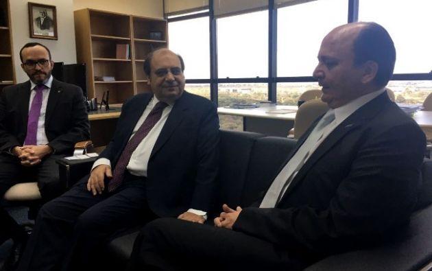 El fiscal Baca de Ecuador se reunió con  Rodrigo Janot y José Bonifacio Borges de Andrada de la Procuraduría General de la República Federativa del Brasil. Foto: Fiscalía