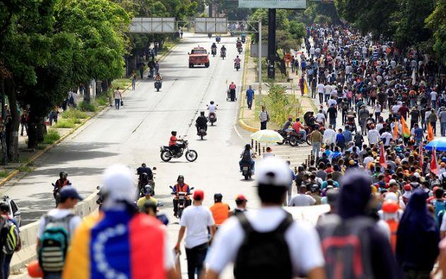 Con la muerte de Gutiérrez asciende a 63 la cifra de víctimas mortales que ha dejado la violencia desencadenada de algunas de las manifestaciones.   Foto: Reuters.
