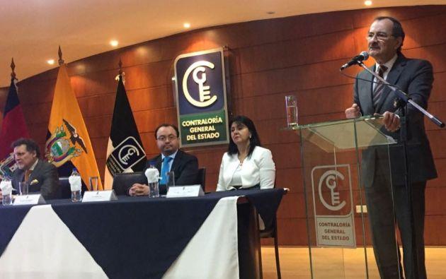 Contralor Pólit denuncia represalias tras los allanamientos a una casa de su propiedad en Guayaquil, en el caso Odebrecht. Foto: Contraloría