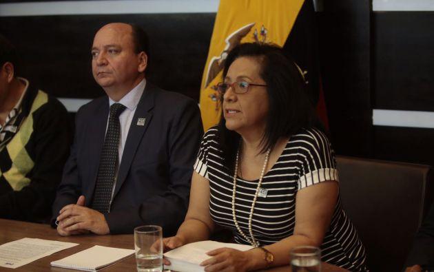 El Fiscal Baca Mancheno fue el encargado de confirmar hoy desde Quito los nuevos allanamientos por el caso Odebrecht. Foto: Cortesía