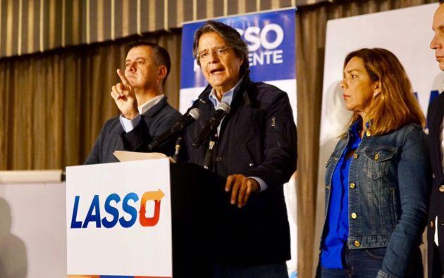 Guillermo Lasso, líder político de CREO, se pronunció sobre los nuevos allanamientos de Odebrecht. Foto: TW de Lasso