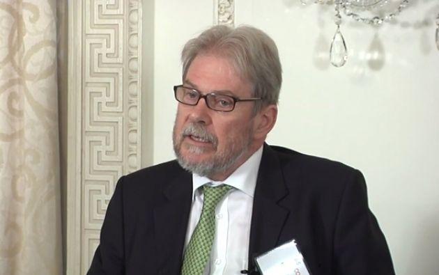 """Michael Reid, editor en The Economist, firma como """"Bello"""" en sus columnas de Vistazo en referencia al escritor Andrés Bello. Foto: Tomado de As.coa.org"""