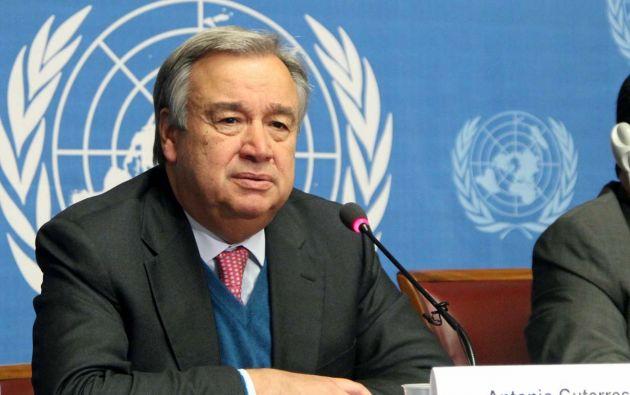 El presidente de la República confirmó que mantuvo una conversación telefónica conel secretario general de Naciones Unidas, Antonio Guterres (foto).