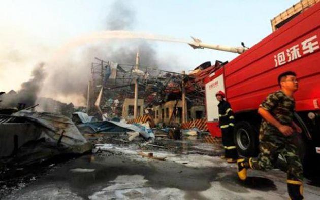 La explosión tuvo lugar en la entrada de la guardería, justo cuando los niños y sus familias salían del establecimiento. Foto: Twitter