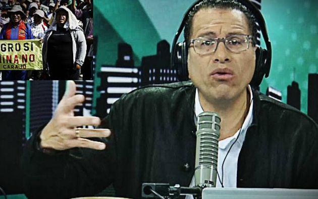 El periodista Phillip Butters emitió sus declaraciones en el canal peruano Willax TV.