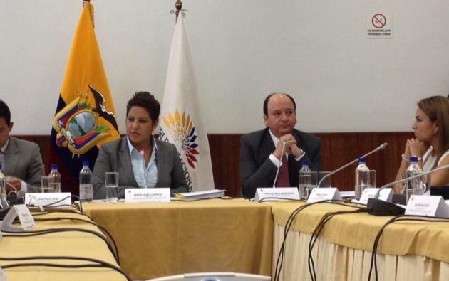 Baca compareció hoy ante la Comisión de Fiscalización como parte de las investigaciones del caso Odebrecht. Foto: Twitter Fiscalía General del Estado.