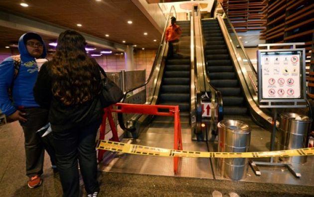 El atentado ocurrió hacia en los baños del segundo piso del Centro Comercial Andino, en el norte de Bogotá. Foto: AFP