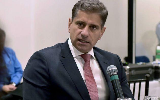 """""""Odebrecht pagará, reconocerá y reparará íntegramente estos daños"""", declaró el director regional de la empresa en Ecuador, Mauro Hueb.Foto: AFP"""