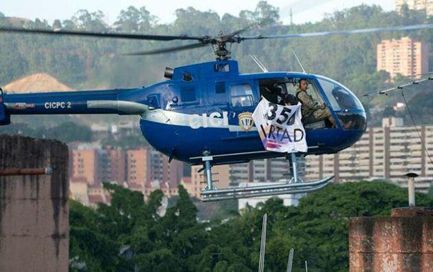 Según el gobierno, desde un helicóptero también se hicieron unos 15 disparos contra la sede del ministerio de Interior, en el centro de Caracas, sin que se informara de víctimas. Foto: Tomado de NTN24