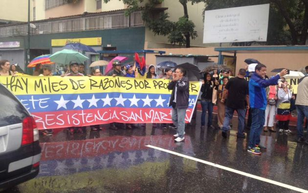 """Desde 9 puntos distintos de Caracas se prevé hoy un nuevo """"trancazo"""" en rechazo al Gobierno. Foto: NTN24"""