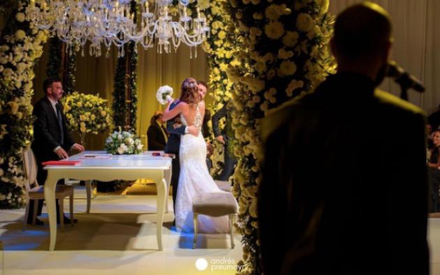 Lionel Messi y Antonela Roccuzzo se casaron el pasado viernes ante cientos de invitados famosos. Foto: IG de Antonela