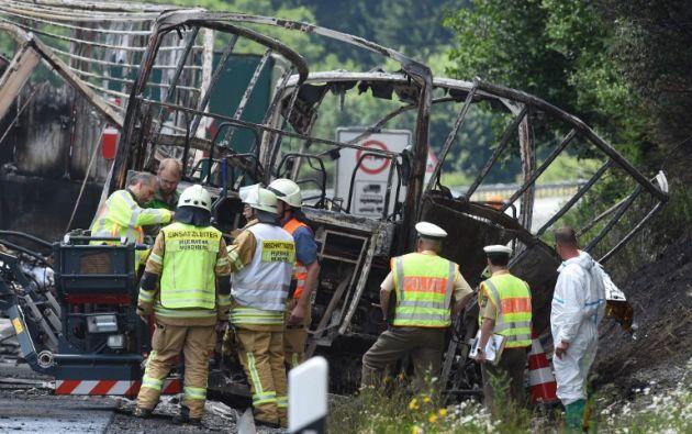 Un autobús chocó contra un camión articulado en el sur del país dejando unos 30 heridos. Foto: AFP