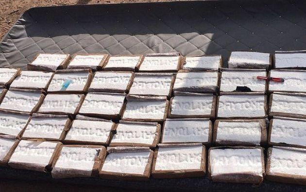 Al menos 692 paquetes de cocaína iban a ser transportados en 20 sacos de yute hacia Centroamérica vía marítima. Foto: Policía