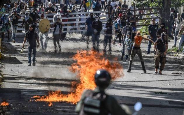 El pasado 27 de junio, Pérez y otros hombres no identificados sobrevolaron Caracas en un helicóptero de la policía científica. Foto: AFP