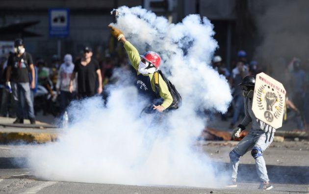 """El bloque europeo reiteró que """"una solución pacífica a la crisis sólo vendrá del diálogo y de la voluntad política. Foto: AFP"""