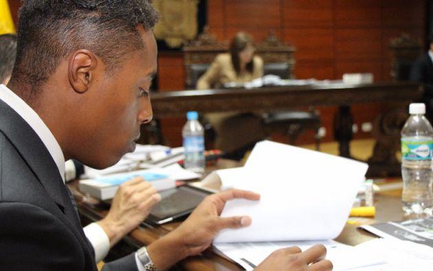 QUITO, Ecuador.- El teniente del Ejército fue sentenciado a 5 meses y 24 días como autor del delito de odio racial. Foto: Fiscalía de Ecuador