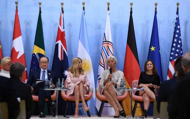 """ALEMANIA.- """"Reemplaza al presidente Trump en la mesa del G20 mientras se va encuentros bilaterales"""", escribió una diplomática rusa en Twitter. Foto: AFP"""