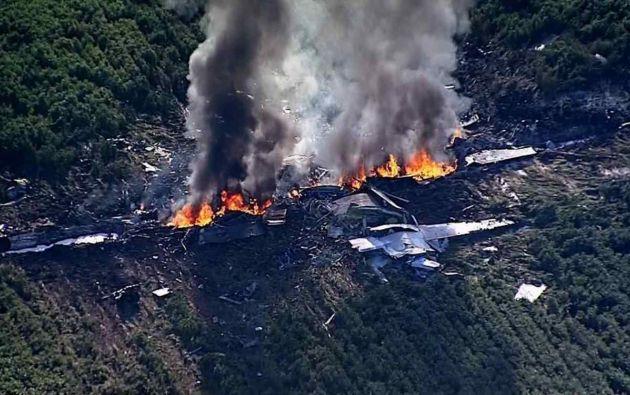 El avión se estrelló en un campo de cultivos de soja en el límite entre los condados de Sunflower y Leflore. Foto: Noticias SIN