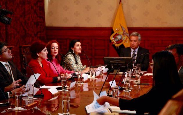 Moreno hizo un llamado a no dejarse amedrentar y pidió al frente llegar al fondo de todo. Foto: Cancillería