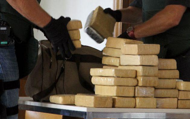 De acuerdo a indagaciones preliminares, la cocaína era trasladada desde países vecinos, utilizando como ruta las costas ecuatorianas. Foto referencial