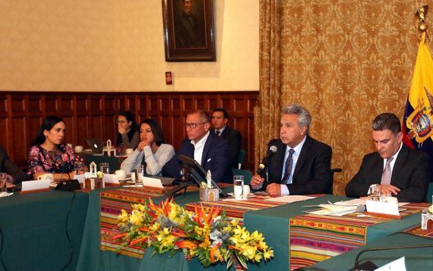 La cita se dió por temas de coordinación entre el Ejecutivo y el Legislativo para la agenda de leyes. Foto: Flickr Presidencia