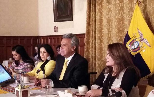 """""""No existen primeras damas en este país, todas las damas son de primera"""". Foto: Presidencia"""