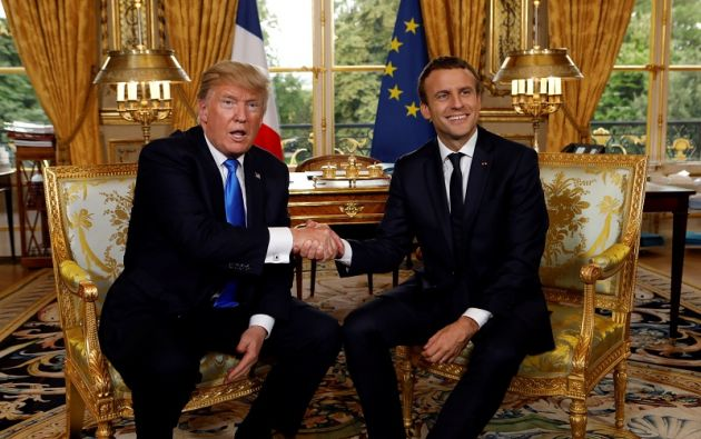 Macron expresó su respeto por la decisión de Trump de retirar a EEUU del Acuerdo de París. Foto: Reuters