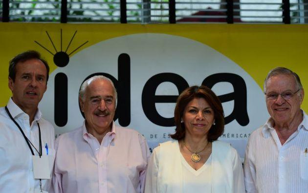 Jorge Quiroga de Bolivia, Andres Pastrana de Colombia, así como Laura Chinchilla y Miguel Angel Rodriguez de Costa Rica fueron declarados 'persona non grata' por el gobierno de Venezuela. Foto: AFP
