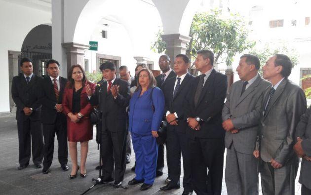 Wilmer Santacruz, titular de la Red de Maestros, informó de los acuerdos obtenidos luego del diálogo con Moreno. Foto: TW de Educación