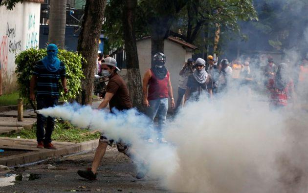 """El paro cívico, de 24 horas, arrancó a las 06H00 locales en el inicio de la llamada """"hora cero"""". Foto: AFP"""