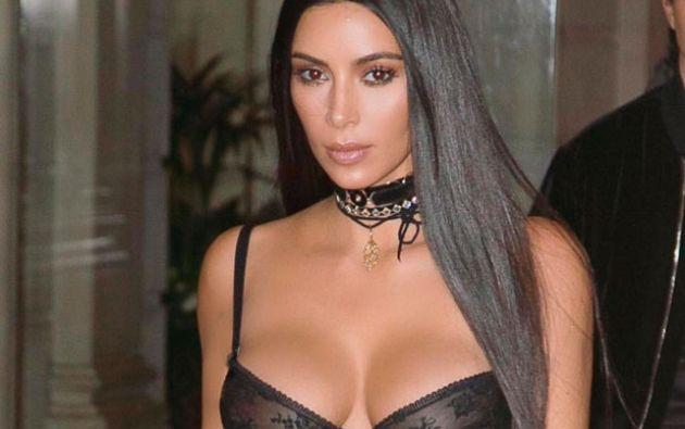 La falda de Kim contaba con transparencias, lo que hizo que mucha más piel quedara a la vista. Foto: Internet