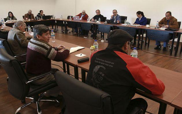 La reunión de hoy se suma a otras dos que se realizaron en un valle cercano a Quito. Foto: Twitter @ELN_Paz