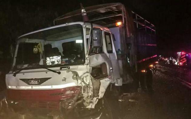 Accidente cerca de Él Cerrito en Balzar. Foto: Twitter CUPS Fire