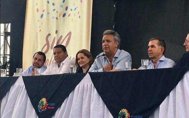 """Moreno: """"Las Manuelas recorrerán el Ecuador identificando a las personas que necesitan nuestra ayuda"""". Foto: Twitter  Presidencia"""