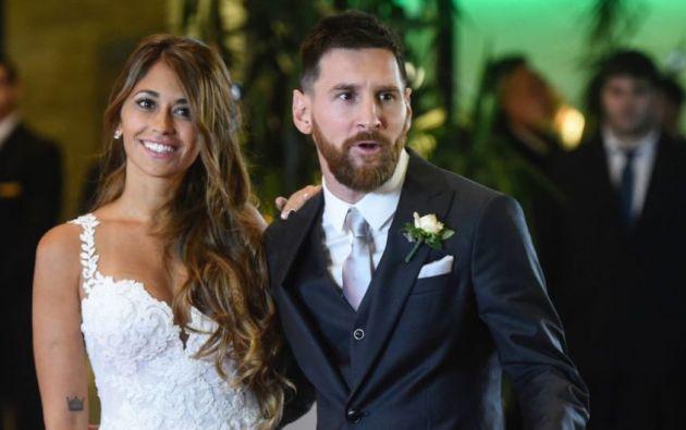 Messi (30 años) y Roccuzzo (29), padres de Thiago (4) y Mateo (1), se casaron el 30 de junio en su Rosario natal ante unos 260 invitados. Foto: Internet