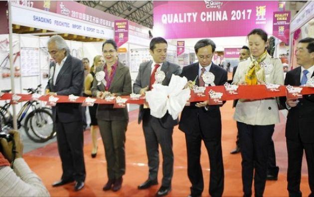 """La inauguración de la feria """"Quality China 2017"""" evidenció las buenas relaciones que mantienen los dos países."""