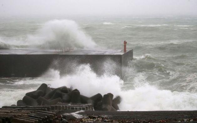 El tifón obligó a anular unos 400 vuelos, principalmente en el oeste de Japón, y perturbó en algunas zonas el tráfico ferroviario. Foto: AFP