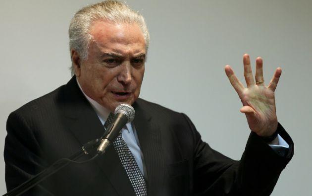 Rodrigo Janot presentó una denuncia contra Temer por el supuesto delito de corrupción pasiva. Foto: Reuters