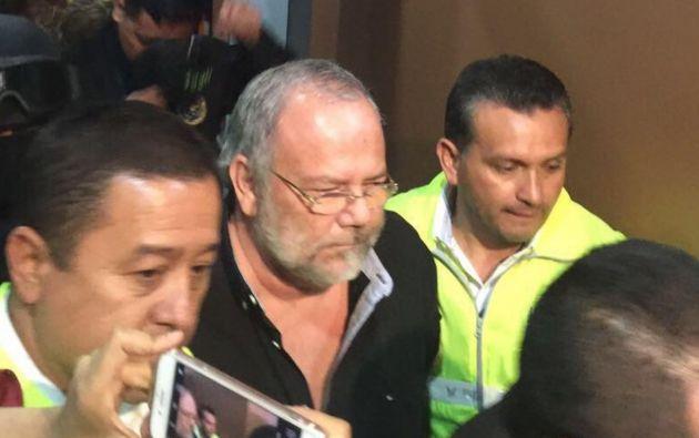 """Luego de la valoración médica de rigor, Carlos Pareja Yanuzelli ingresó a la Cárcel 4 de Quito"""". Foto: Secom"""