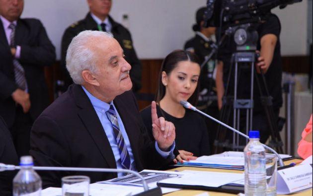 El ministro del Interior, César Navas, confirmó que Chiriboga fue retenido en el aeropuerto Mariscal Sucre de Quito. Foto: archivo