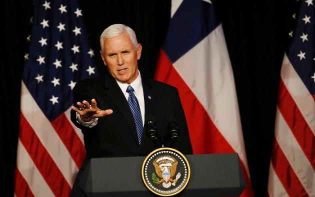 """""""Estados Unidos no se va a quedar quieto mientras Venezuela se está destrozando"""", dijo Pence. Foto: Reuters"""