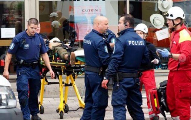 Los hechos ocurrieron en torno a las 12H45 GMT en la zona de Elberfeld, en Wuppertal. Foto: AFP