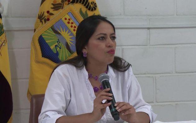 La secretaria Nacional de Gestión de la Política se refirió a visita de Patiño a Bélgica. Foto: captura de video