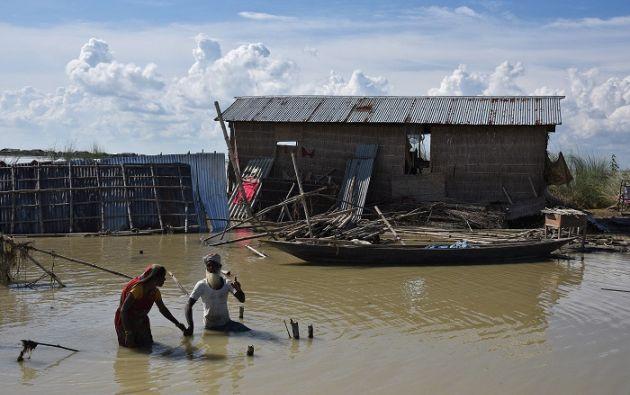Una serie de inundaciones y deslizamientos de tierra golpean el subcontinente desde la segunda semana de agosto. Foto: Reuters