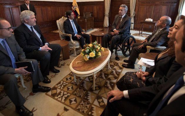 Álvarez-Pallete manifestó que el objetivo de la misma fue presentar al Jefe de Estado la planificación de inversiones a futuro. Foto: SECOM