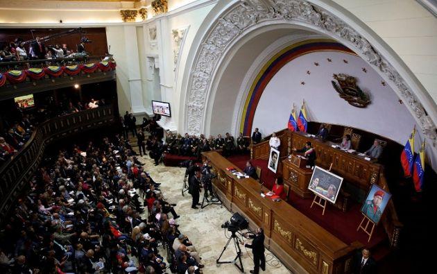"""""""A partir de la semana que viene estaremos redactando los capítulos de la nueva Constitución"""", dijo Delcy Rodríguez. Foto: Reuters"""
