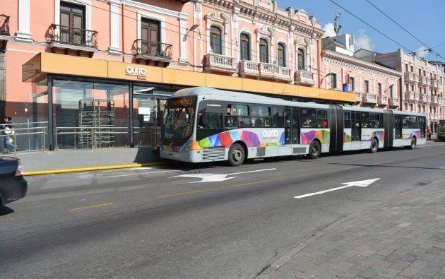 """""""Quiero recordar a los transportistas que el Código Orgánico Integral Penal sanciona la paralización"""", dijo Rodas. Foto: Cortesía"""